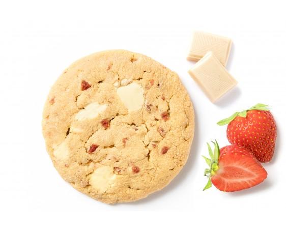 Chocolat blanc, fraise