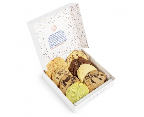 Boite de 8 cookies parfums divers