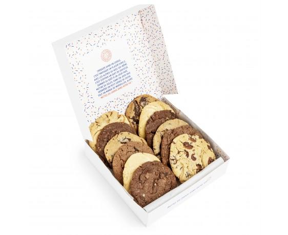 Assortiment de 12 cookies du jour - Tout chocolat