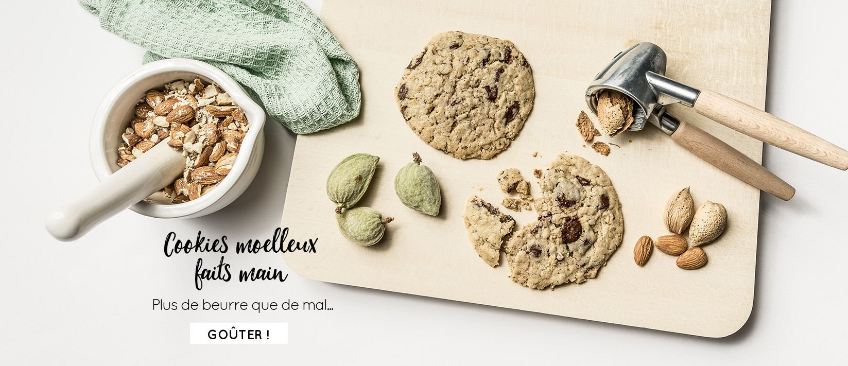 Cookies moelleux faits main